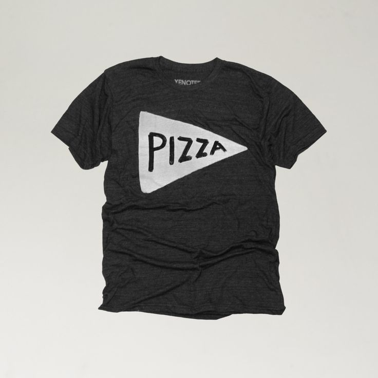 Pizza T shirt  Men's tshirt in Black mens graphic tee by Xenotees, $24.99
