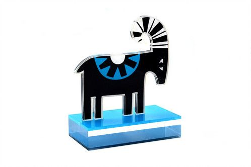 Goat | plexiglass bookend | screenprinted - lazer cutted - handpolished | designed and made in Greece