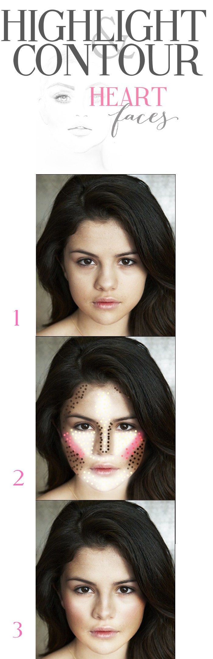 Contouring for a heart shaped face!