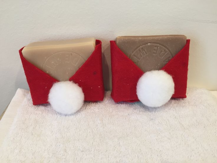 Natural Soaps dressed as Santa