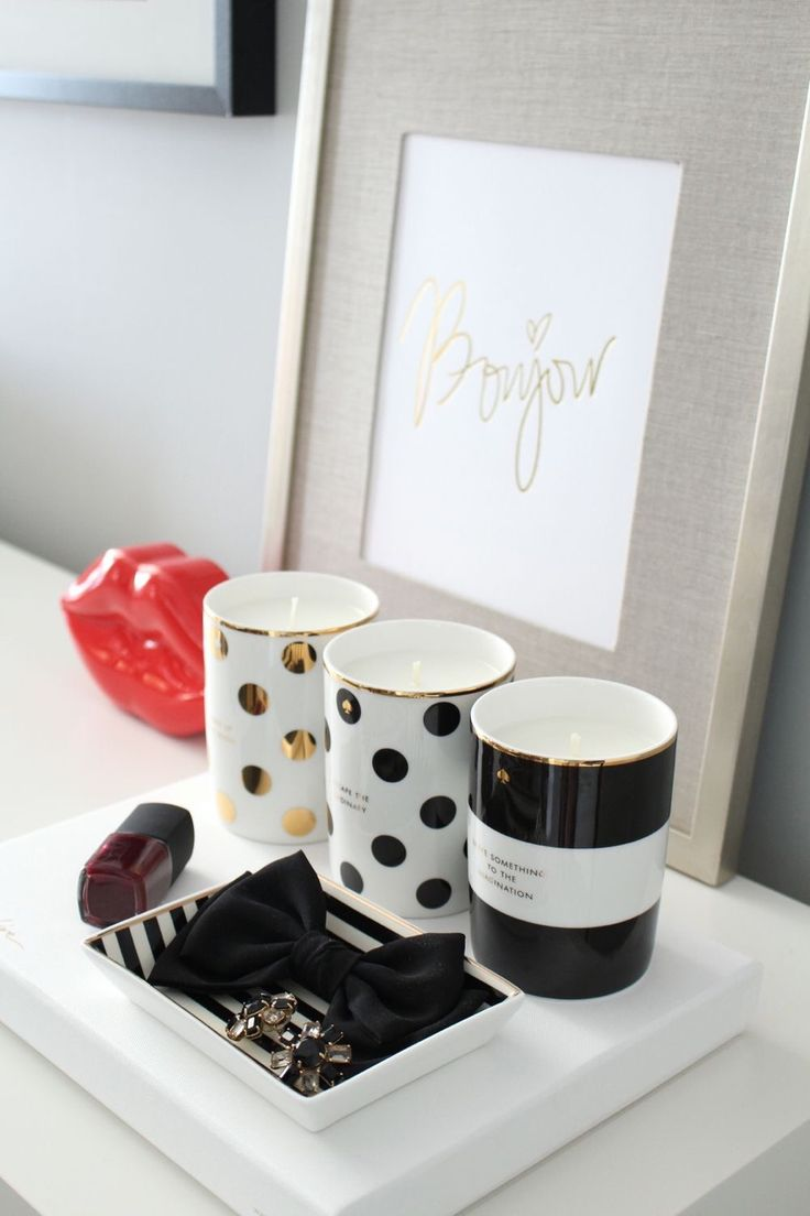 kate spade candles make the perfect desk accessories!