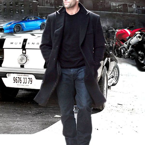 """FAST AND FURIOUS 7 JASON STATHAM COAT  http://www.newamericanjackets.com/product/fast-and-furious-7-jason-statham-coat.html  This coat is worn by Jason Statham's hottest action movie """"Fast & Furious 7"""".  #jasonstatham #furious7 #Movie #Celebrity #newfashion #maleFashion #onlineclothshop #fashionstore #fashion #LeatherFashion #stylish #outfit #Clothing #jacket #fashionable #fashionstylist"""