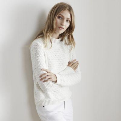 Textured Stitch Cropped Jumper - White #TheWhiteCompany #DiscountSavings #DiscountCodes