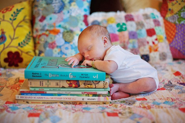 Baby and books - cutie pie!