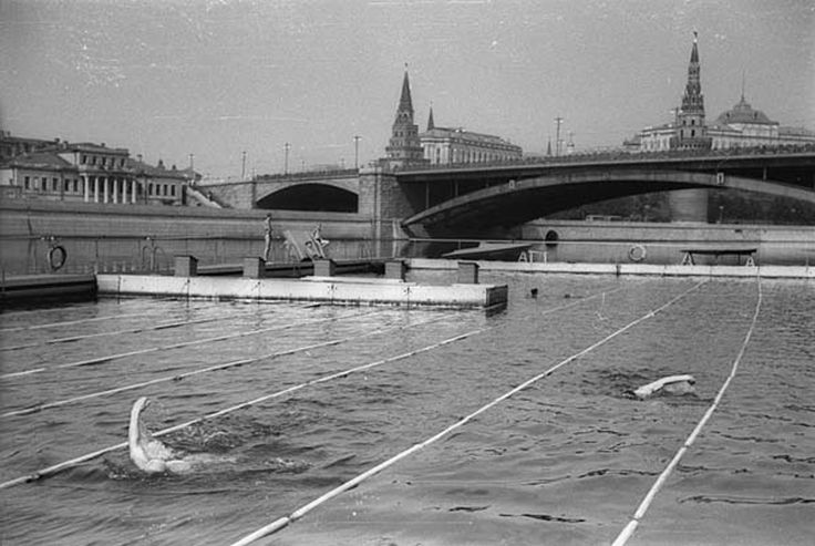 Swimming in Moscow River.