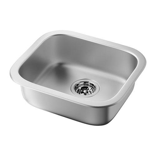 FYNDIG Évier à encastrer 1 bac IKEA Évier en acier inoxydable, un matériau hygiénique, solide, résistant et facile d'entretien.