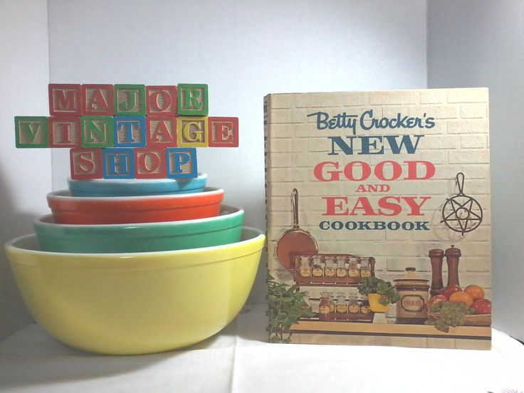 """Betty Crocker's """"New Good And Easy Cookbook"""" first edition by MajorVintageShop on Etsy"""