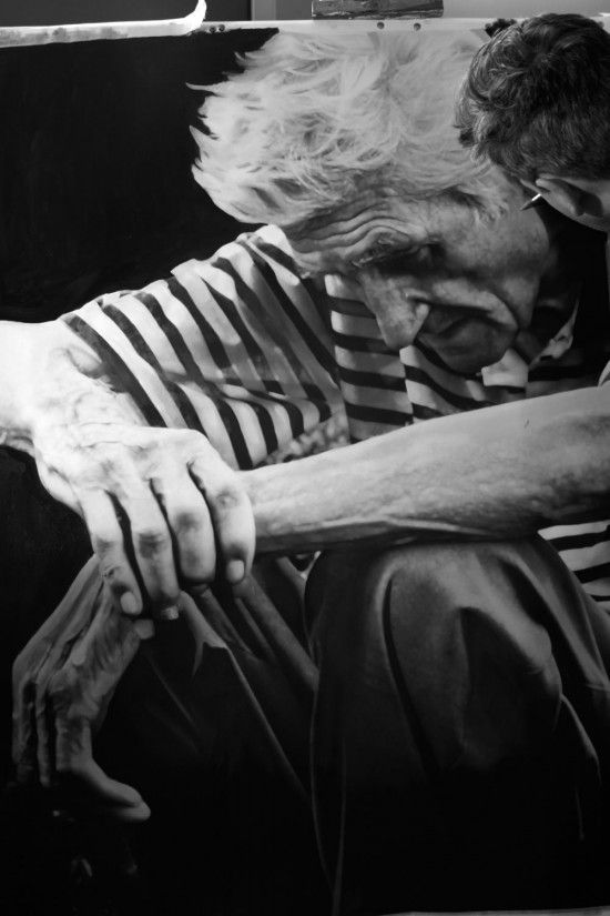 Paul Cadden, a Scottish-born hyperrealist, uses graphite and chalk to make his drawings come to life.