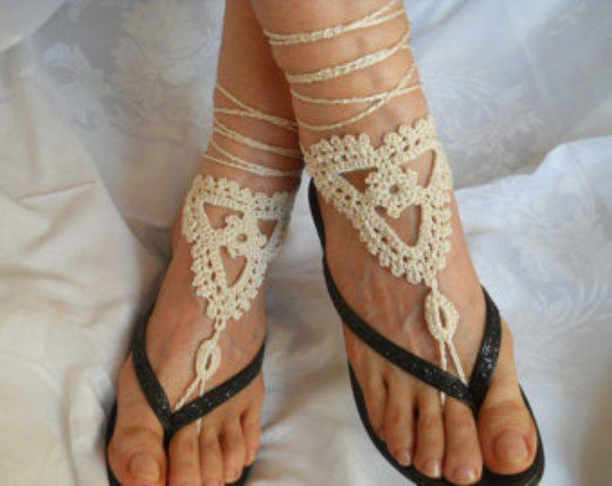VENDITA 45% di sconto Crochet a piedi nudi sandali estate sandali scarpe perline vittoriano cavigliera piede donne accessori spiaggia indossare regali sotto 10 dollari