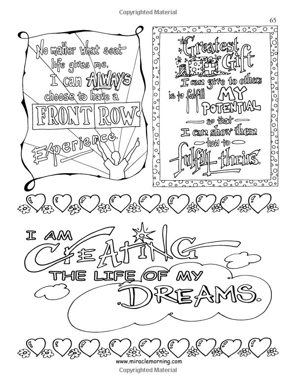 21 best The Miracle Morning: Art of Affirmations Coloring