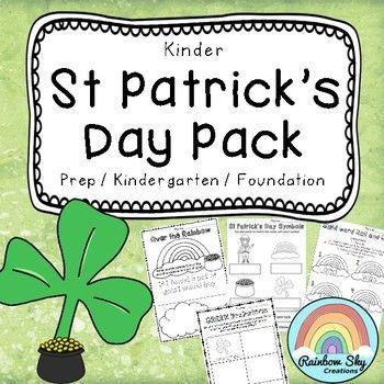 Kinder St Patrick's Day Pack- Foundation by Rainbow Sky Creations | Teachers Pay Teachers