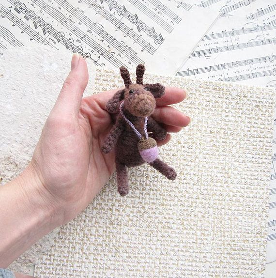 Toy deer Knit Toy Soft deer Gift for her Cute deer