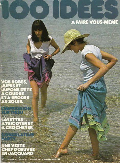 Jupe d'été coton indien, Vintage pattern , 100 idées magazine