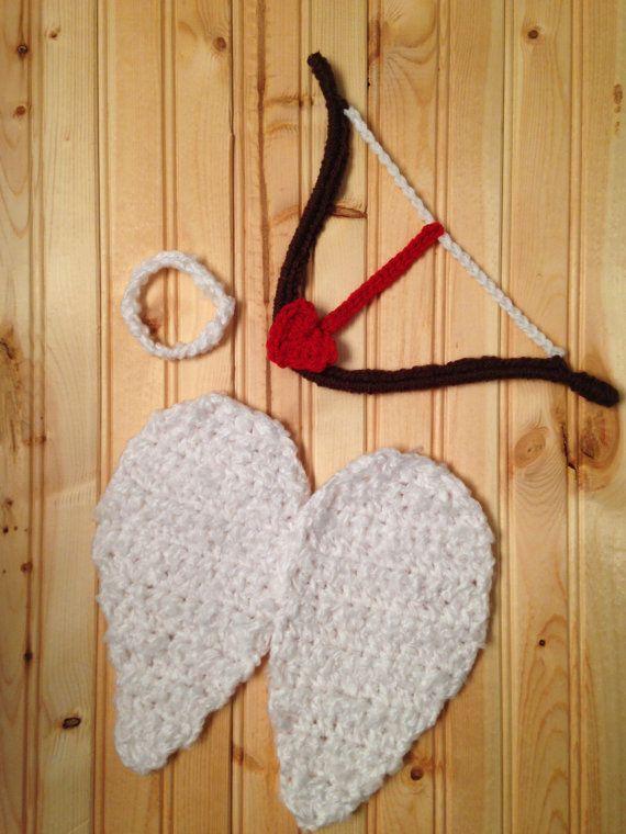 Crochet Cupid Photo Prop Set by TCSimplyChic on Etsy, $25.00