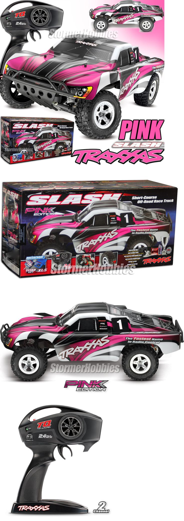 Cars Trucks and Motorcycles 182183: Traxxas Slash Xl-5 2Wd Rtr W Tq 2.4Ghz Short Course Electric Rc Truck 58024 Pink -> BUY IT NOW ONLY: $189.95 on eBay!