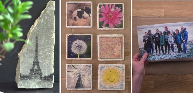 Make an incredible gift out of any photo you want with this easy DIY project that works on stone, wood, tile— anything you can find!