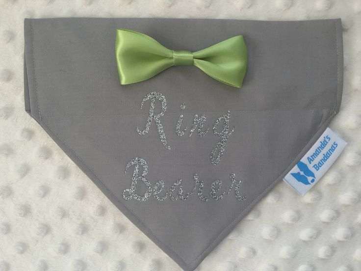 Custom Ring Bearer, best dog, wedding collar bandana by AmandasBandanas on Etsy