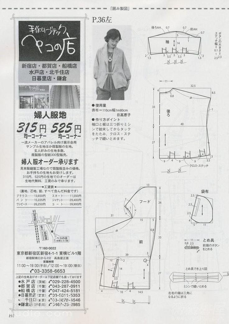 jacket, pattern istructions