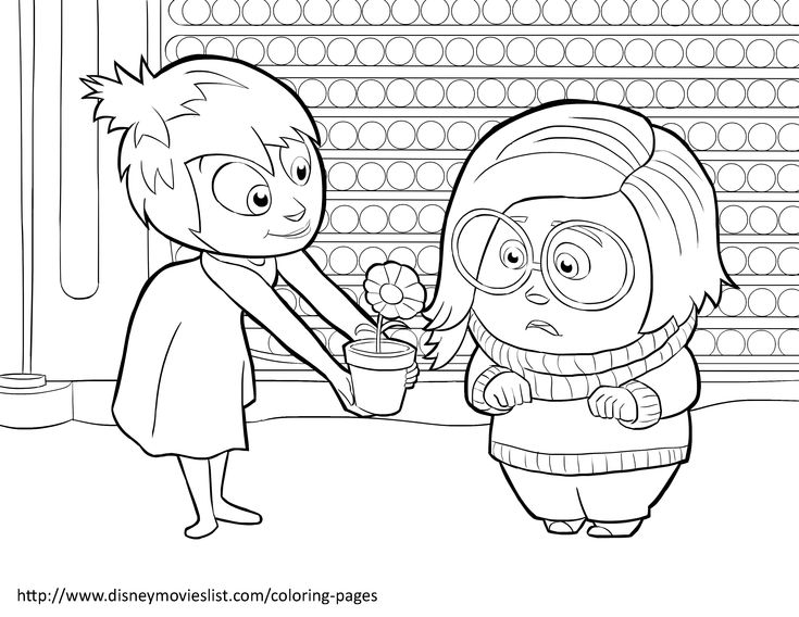 Disneys Inside Out Coloring Pages Sheet Free Disney Printable Color Page