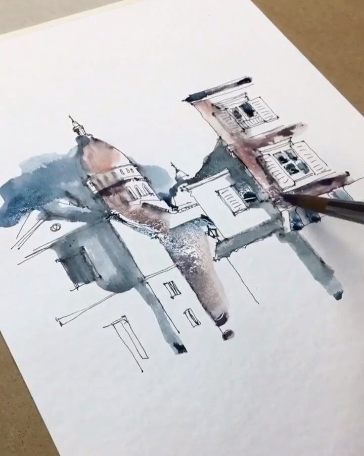 Watercolor Artist On Instagram New Sketch In Processing