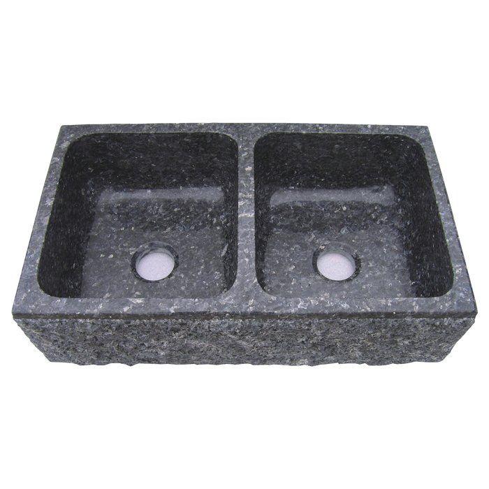 Farm Charm 33 X 19 Double Bowl Farmhouse Granite Kitchen Sink Granite Kitchen Sinks Drop In Kitchen Sink Sink 33x19 drop in kitchen sink