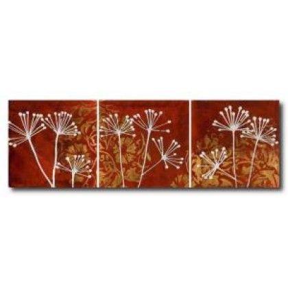 Λουλούδια - τρίπτυχο - 60x180 cm