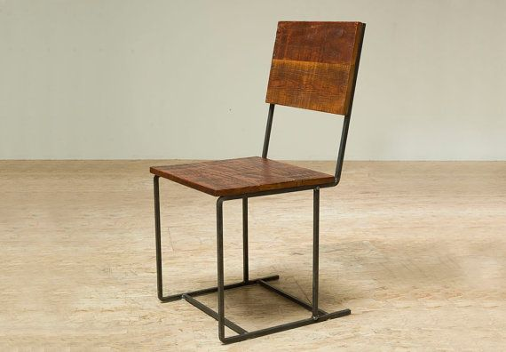 Around the World in 80 Chairs: Reclaimed Douglas Fir and Recycled Iron Steel Chair, by BlakeAvenue Los Angeles