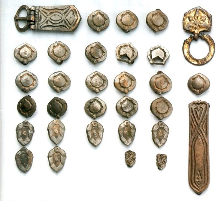 x.century belt mounts from Vereb,Fejér,Hungary
