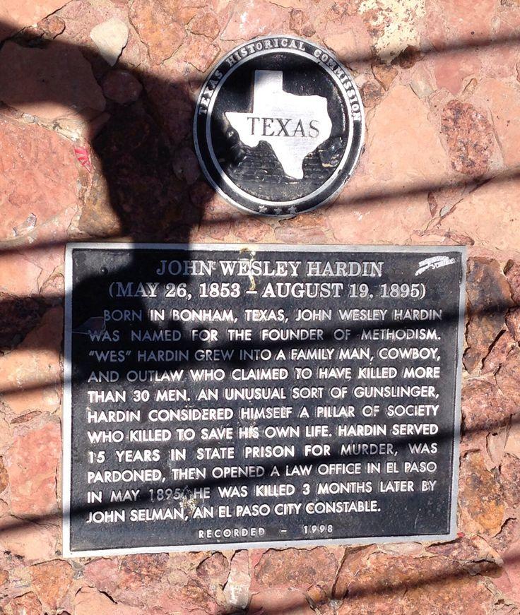 Concordia Cemetery, El Paso, TX.John Wesley Hardin's
