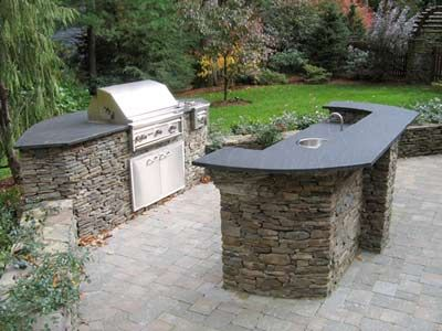 Timber and Stoneworks Design Build Outdoor Kitchens