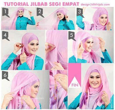 busana cantik faira tips memakai jilbab segi empat yang simple dan elegan