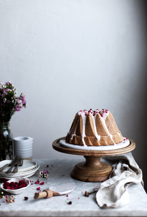 Raspberry Rose Bundt Cake (GF w/ regular flour option) - The Kitchen McCabe