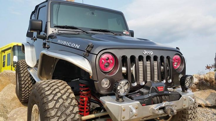 At The The Official Topless for TATA's Charity Wheeling Event, J.W. Speaker Corporation released a new Breast Cancer Awareness Month PINK Limited Edition Light! Proud to have a WARN winch right up front with this project.  #warn #goprepared #offroad #jeep #4x4 #breastcancerawarenessmonth #cancer #toplessfortatas