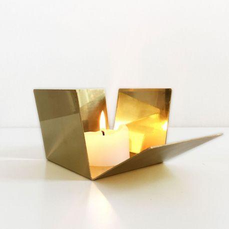 Photophore doré effet miroir en vente chez Pure Deco