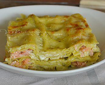 Lasagne con pesto e salmone ricetta primo piatto