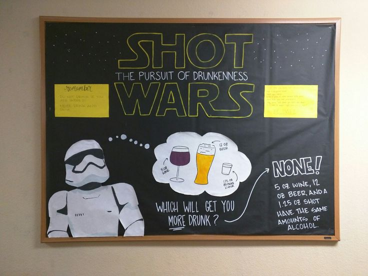 staticsandstationery:  March bulletin board is up and running!! Because off-duty Stormtroopers need to find a better way to cope with their overbearing boss.  Okay friends, so I've entered this board in a social media contest her at OSU for Alcohol Awareness Month, and the board with the most favorites and retweets on Twitter or like on Instagram will win a prize for their staff. So it would be AMAZING if you guys could head on over to my Twitter (staticsandstuff or slhuckabay) and my…