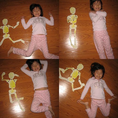 Human Skeleton - Bones and Body Parts Craft for #Children (pinned by Super Simple Songs) #educational #resources