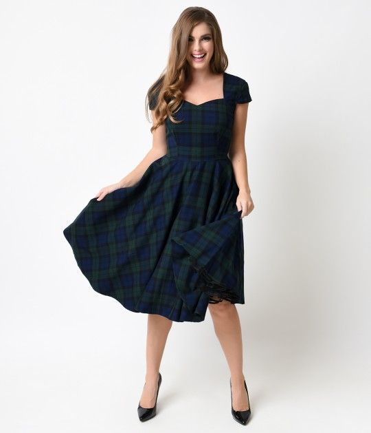 672 best pin up vintage rockabilly clothes images on pinterest the perfectly prim hell bunny aberdeen dress is cast in a retro dress style that will become a fast favorite green blue and black dublin tartan fabric is ccuart Gallery