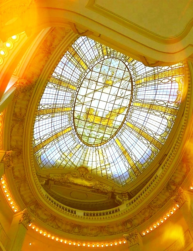 Stained glass window in Paris