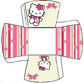 OH MY FIESTA!: Cajitas imprimibles de Hello Kitty