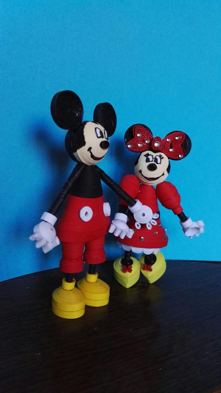 Mickey és Minnie quilling