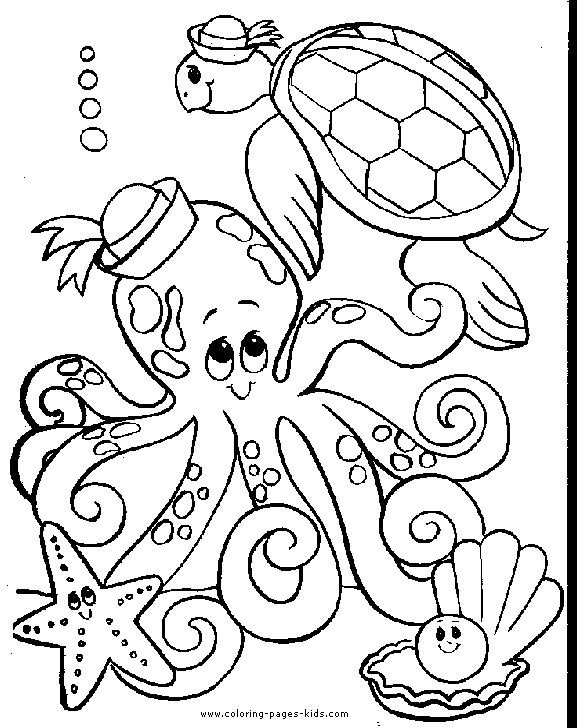 Octopus Color Page Animal Coloring Pages Color Plate Coloring Sheet Printable Coloring Pic Turtle Coloring Pages Octopus Coloring Page Animal Coloring Pages