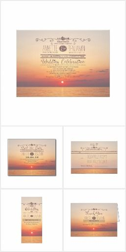 Sunset Beach Nautical Wedding Collection. These nautical wedding invitation sets / stationary / suites may include: Wedding invitation cards, wedding envelopes, wedding RSVP Cards, wedding address labels, save the dates, wedding programs, wedding thank you cards, rehearsal dinners and more matching wedding products.