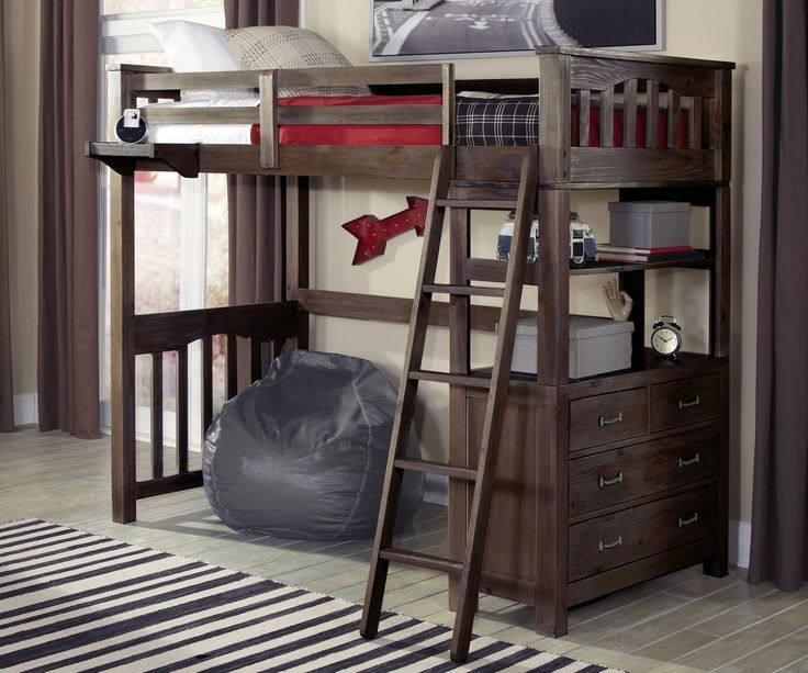 Full Size Loft Bed Desk - City Furniture Living Room Set Check more at http://www.gameintown.com/full-size-loft-bed-desk/