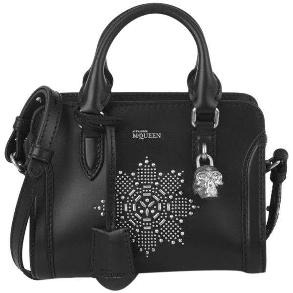Pre-owned Alexander Mcqueen Mini Skull 'padlock' Crystal Embellished... (9.325 DKK) ❤ liked on Polyvore featuring bags, handbags, shoulder bags, black, leather crossbody purse, black shoulder bag, black crossbody purse, mini crossbody and leather purse