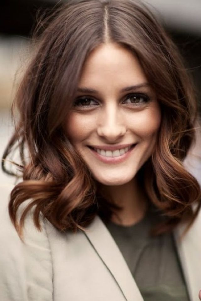 love the cut longbob oliviapalermo hairstyle hair color