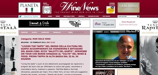 I Salotti del Gusto sul prestigioso Wine News:  http://www.winenews.it/news/30234/living-the-taste-nel-segno-della-cultura-del-gusto-accompagnati-da-vignerons-e-artigiani-del-buon-cibo-ecco-salotti-del-gusto-kermesse-on-tour-che-rende-omaggio-al-culto-del-wine-food-prima-tappa-in-alta-badia-dal-22-al-24-giugno