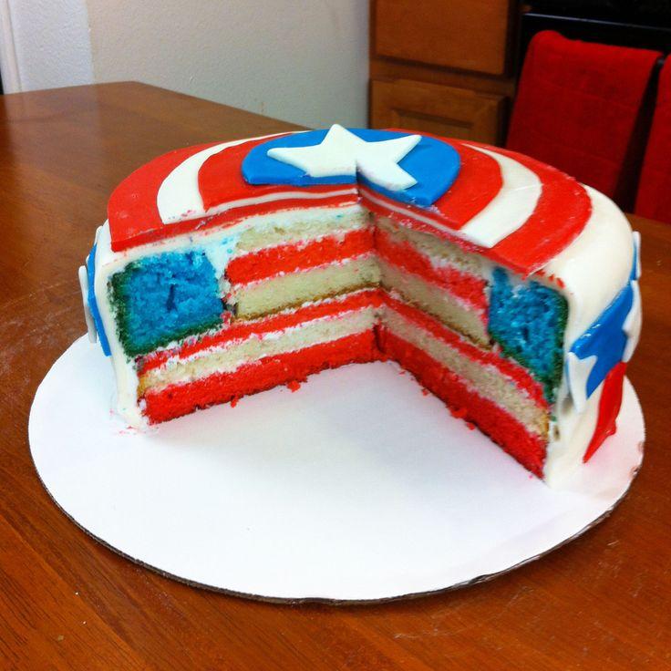 Captain America Cake! I Love Making Nerdy Nummies