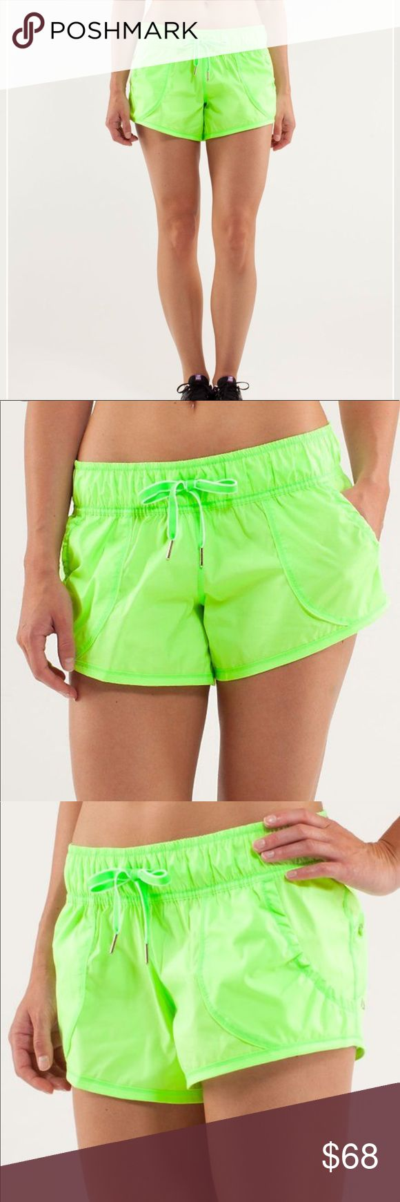 Lululemon work it out lime green shorts ⚡️NO trades  ⚡️open to ALL offers!  ⚡️ bundle for MAJOR discounts!  ⚡️feel free to ask any questions ⚡️ I will not respond to offers in the comments, please use the offer button for all offers.  ⚡️Please only ask for model photos if you are very interested!  ⚡️All sales are final and all offers are binding.  ⚡️ If I miss your comment, please comment again! lululemon athletica Shorts