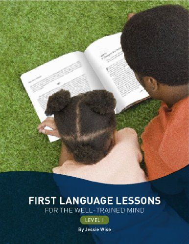 First Language Lessons for the Well-Trained Mind: Level 1 (Second Edition)  (First Language Lessons) by Jessie Wise http://smile.amazon.com/dp/1933339446/ref=cm_sw_r_pi_dp_wP1oub1GF1CA8